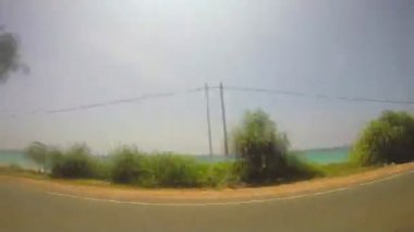 Sri lankan landscape from moving vehicle. — Stock Video