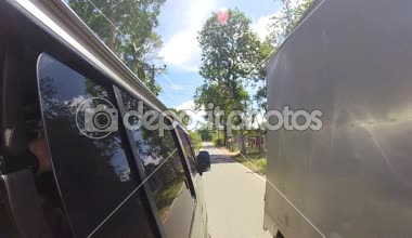 Kandy traffic from a moving car — Stock Video