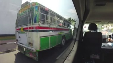 View of traffic from moving vehicle. — Stockvideo