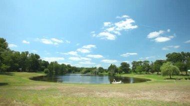 Tauriac lake — Video Stock