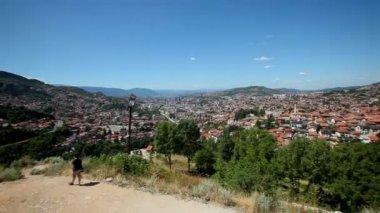 Panoramic view of the city of Sarajevo — Vídeo de Stock