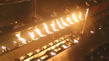 Gravação de velas — Vídeo stock