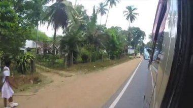 Kandy traffic from moving car — Stock Video