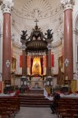 Interior of Mellieha Parish Church — Stock Photo