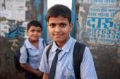 Indian school boys — 图库照片
