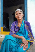 Elderly Indian woman — Stock Photo