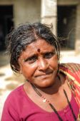 Indian miggle-aged woman — Stock Photo
