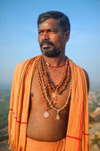 Indian pilgrim — Stock Photo