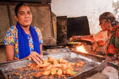 Indian female sellers — Stock Photo