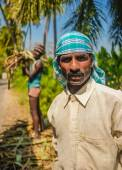 Portrait of Indian workers — Stock Photo