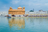 Pilgrims at the Golden Temple — Stock Photo