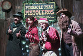 A Pinnacle Peak Christmas Scene, Tucson, Arizona — Stockfoto
