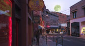 A Full Moon in Bisbee During the Holidays — Stock Photo