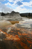 Castle Geyser, Yellowstone National Park in Wyoming — Stockfoto