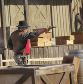 A Gunfight at Old Tucson, Tucson, Arizona — Stock Photo