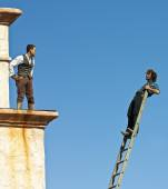 A Pair of Stuntmen Perform at Old Tucson — Stock Photo