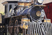 A Steam Locomotive at Old Tucson, Tucson, Arizona — Stock Photo