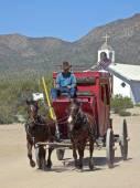 A Stagecoach at Old Tucson, Tucson, Arizona — Stock Photo
