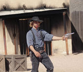 A Gunfight at Old Tucson, Tucson, Arizona — Stock Photo