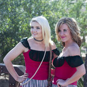 A Pair of Saloon Girls of Old Tucson, Tucson, Arizona — Stock Photo