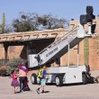 Постер, плакат: An Old Boom Lift of Old Tucson Tucson Arizona