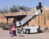 An Old Boom Lift of Old Tucson, Tucson, Arizona — Stock Photo