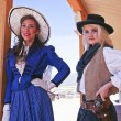 Постер, плакат: A Pair of Old Tucson Frontier Women Tucson Arizona