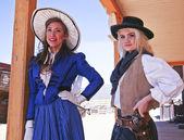 A Pair of Old Tucson Frontier Women, Tucson, Arizona — Stock Photo