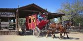 A Stagecoach of Old Tucson, Tucson, Arizona — Stock Photo