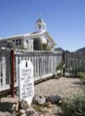 A Grave Marker of Old Tucson, Tucson, Arizona — Stock Photo