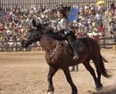 A Princess on Horseback at the Arizona Renaissance Festival — Stock Photo