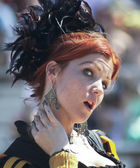 A Red Haired Wench at the Arizona Renaissance Festival — Stock Photo