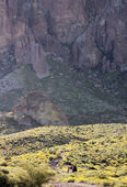A Trail into the Superstition Mountain Wilderness — Stockfoto