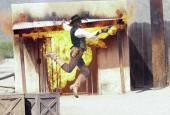 A Cowboy Stuntman Performs at Old Tucson — Stock Photo