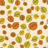 Autumn leaves pattern for design wrapping paper — Stock Vector