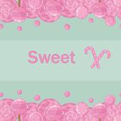 Cukierki lizaki tło wzór — Wektor stockowy