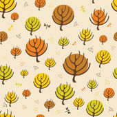 Autumn trees pattern for design wrapping paper — Stock Vector