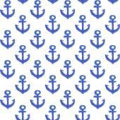 Watercolor anchor pattern — Stock Vector