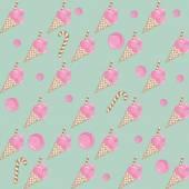 糖果无缝图案背景 — 图库矢量图片