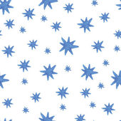 Hand paint  watercolor stars pattern — Vettoriale Stock