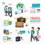 World Travel Business  Infographic — Stock Vector