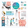 Money Saving Business Infographic. — Stock Vector #52954135