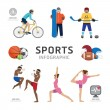 Health Sport and Wellness Flat Icons — Stock Vector #54371117