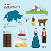Switzerland Flat Icons — Vetorial Stock