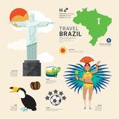 Brazil Flat Icons — Stock Vector