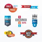 Sale tags banners set. — Stock vektor