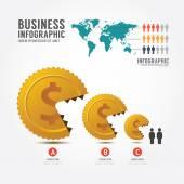 Business eat little business concept. — Stock Vector