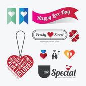 Valentines day Love symbol design — Stok Vektör