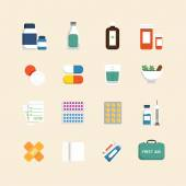 Icons set of medical & health care — Stock Vector