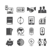 Icons set of business technology design. — Stock Vector